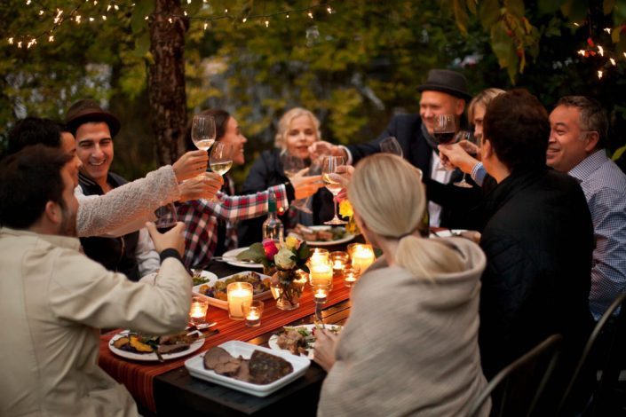 Outdoor entertaining at The Row Townhomes, Townhomes for Rent between Factoria and Bellevue, Washington 98006